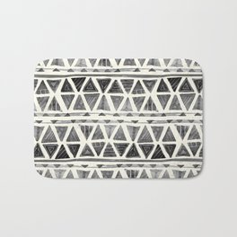 Tribal Geometric Chevron Stripes Bath Mat