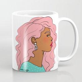 Pink Hair, Red Lips Coffee Mug
