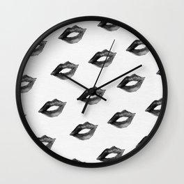 Black Lips Wall Clock