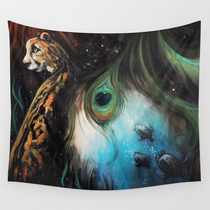 Gaia's Garden 2 Wall Tapestry