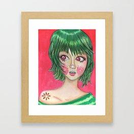 Sandia Girl Framed Art Print
