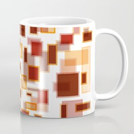 Red Abstract Rectangles Coffee Mug