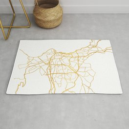 MARSEILLE FRANCE CITY STREET MAP ART Rug