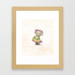 Shy Ellie Framed Art Print