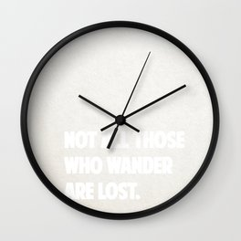 Awesome travel quote Wall Clock
