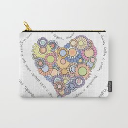Graphic poem about love in Portuguese Carry-All Pouch