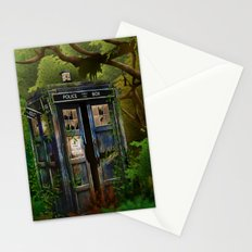 Abandoned Tardis doctor who in deep jungle iPhone 4 4s 5 5s 5c, ipod, ipad, pillow case and tshirt Stationery Cards