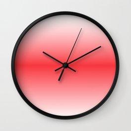 Tomato Red Horizon Wall Clock