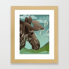 Shiras Moose Framed Art Print