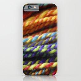 Rainbow Handspun Yarn Close up iPhone Case