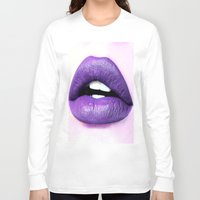 lips Long Sleeve T-shirts featuring Lips by Wanker & Wanker