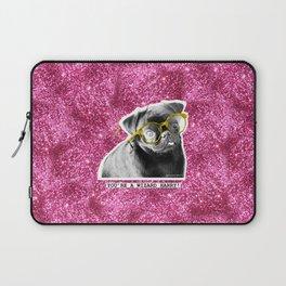 PUG SUKI - YOU'RE A WIZARD HARRY - PINK GLITTER  Laptop Sleeve