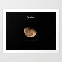 Mr. Moon Art Print