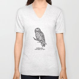 Barred Owl - Berea, KY Unisex V-Neck