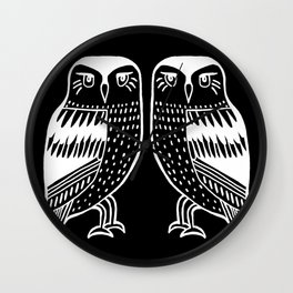Night Owls at Midnight Wall Clock
