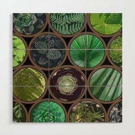 Green Garden Windows Wood Wall Art