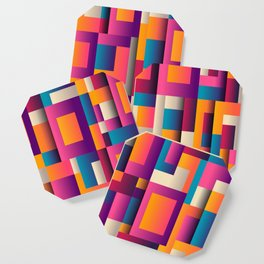abstract background geometry blocks Coaster