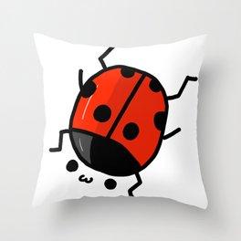 Ladybug Bby | Veronica Nagorny Throw Pillow