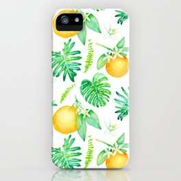 Citrus Tropics - White iPhone Case