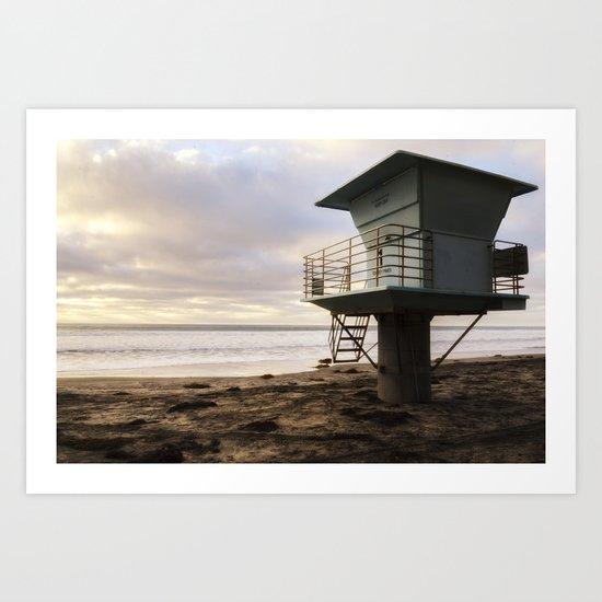 Lifeguard Shack Art Print