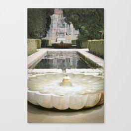 Two Moorish Fountains Canvas Print