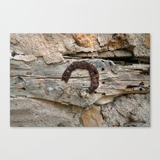 some wait forever for good luck to come Canvas Print