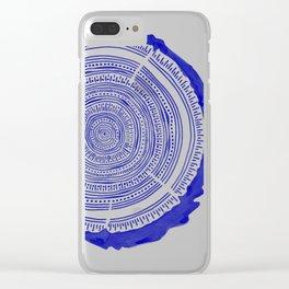 Douglas Fir – Navy Clear iPhone Case
