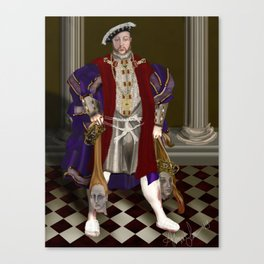 Political Correctness: the Dark Appeasement of King Henry Canvas Print