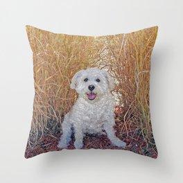 Maya Puppy Throw Pillow
