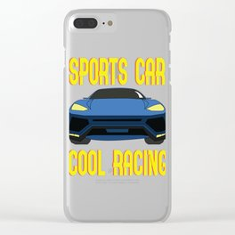 """This Dream come true """"Sports Car Cool Racing"""" tee design perfect for luxurious tracker like you!  Clear iPhone Case"""