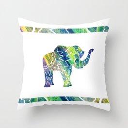 Patchwork Elephant Throw Pillow