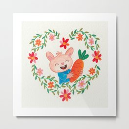 Some bunny loves you. Metal Print