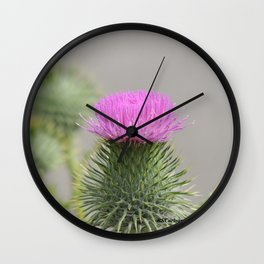 Thistle Bloom Wall Clock