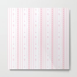 Blush pink white bohemian arrows zigzag geometrical Metal Print