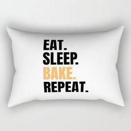 Eat Sleep Bake Repeat Funny Baker Bakery Team Gift Rectangular Pillow