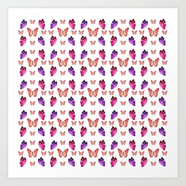 Butterflies Convention Art Print