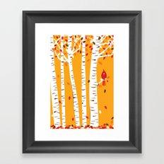 Autumn Cardinal Wall Art Framed Art Print
