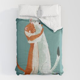 Weasel hugs Comforters