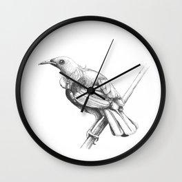 New Zealand Tui Wall Clock