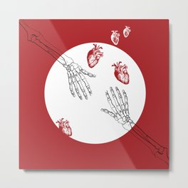 Almost Love - Skeleton Hands Metal Print