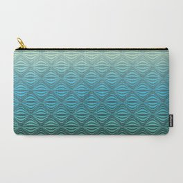 Warp Field (Blue Yellow Green) Carry-All Pouch