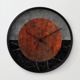 Abstract - Marble, Concrete, and Rusted Iron II Wall Clock