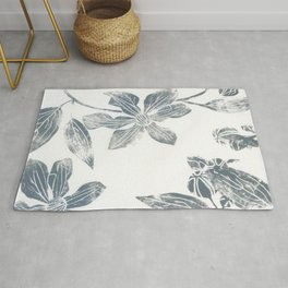 Silver clematis Rug