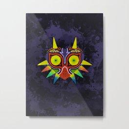 Majora's Mask Splatter Metal Print