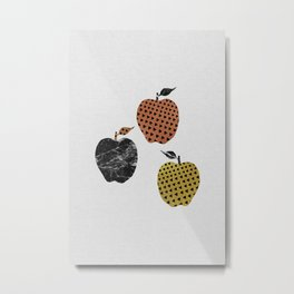 Scandi Apples Metal Print