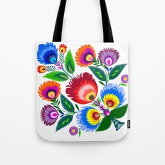 colorful folk flowers Tote Bag
