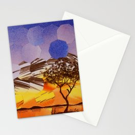 Lavendar Morning with Dove Stationery Cards