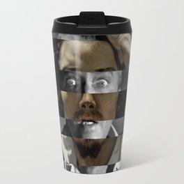 "Gustave Courbet ""The Desperate Man"" Self Portrait & James Stewart in Vertigo Travel Mug"