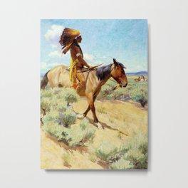 """""""The Chief"""" Western Art by W Herbert Dunton Metal Print"""