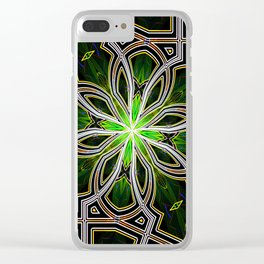 Stain glass Star window* Clear iPhone Case
